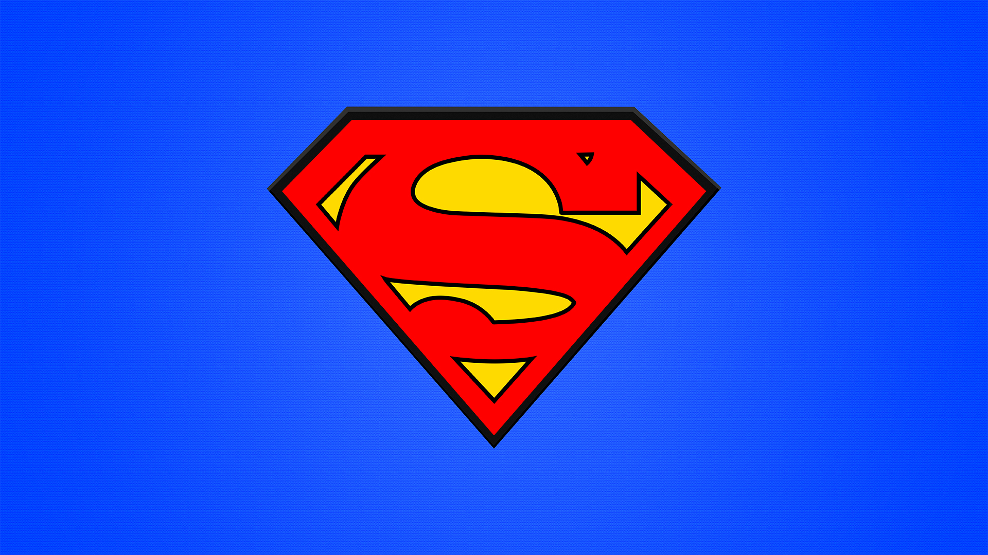 Superman Logo On A Blue Background Themes10 Win